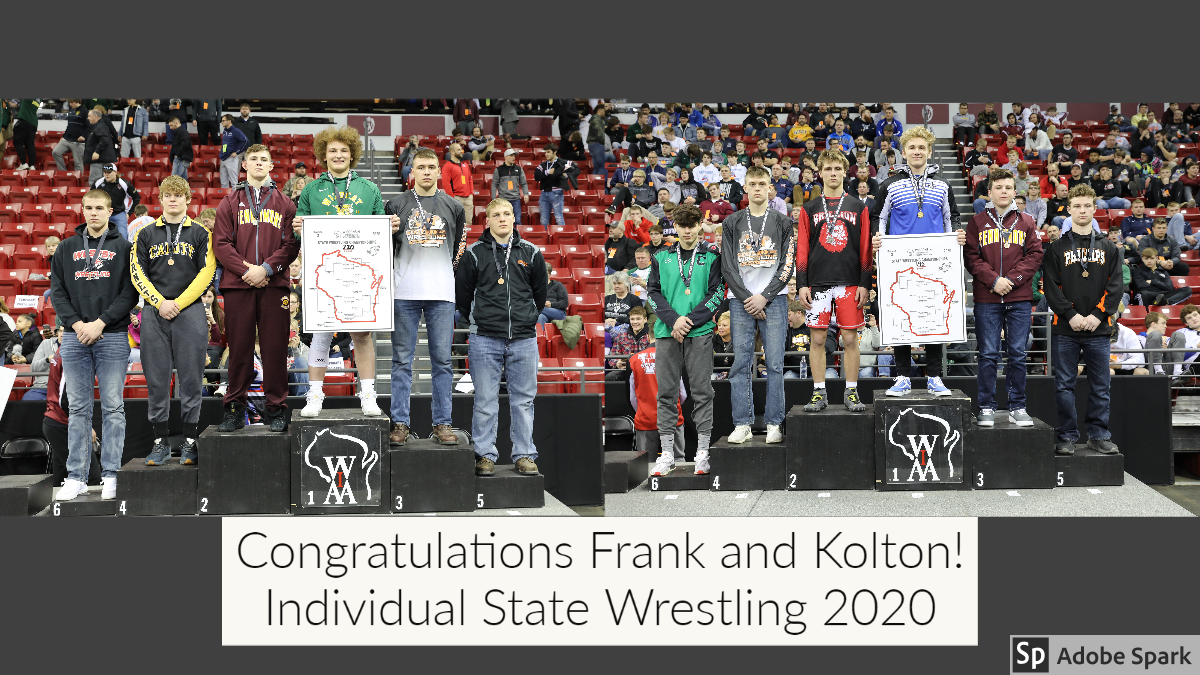 State Wrestling Champs 2020