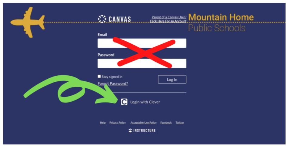 graphic showing canvas login screen