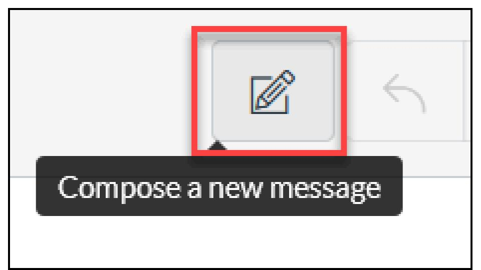 a picture of the compose message button in Canvas