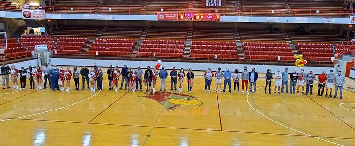 athletes standing in the gym