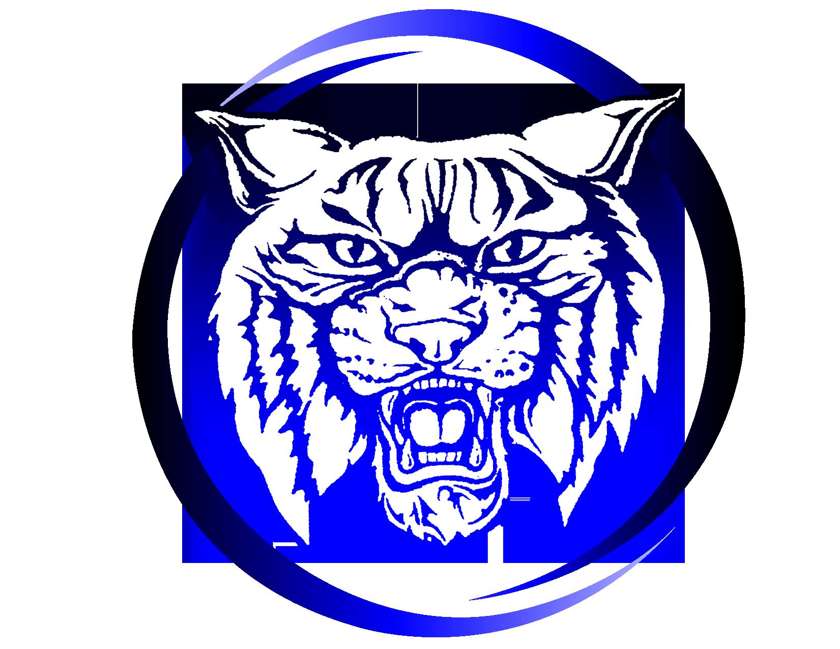 Wildcat head high school logo