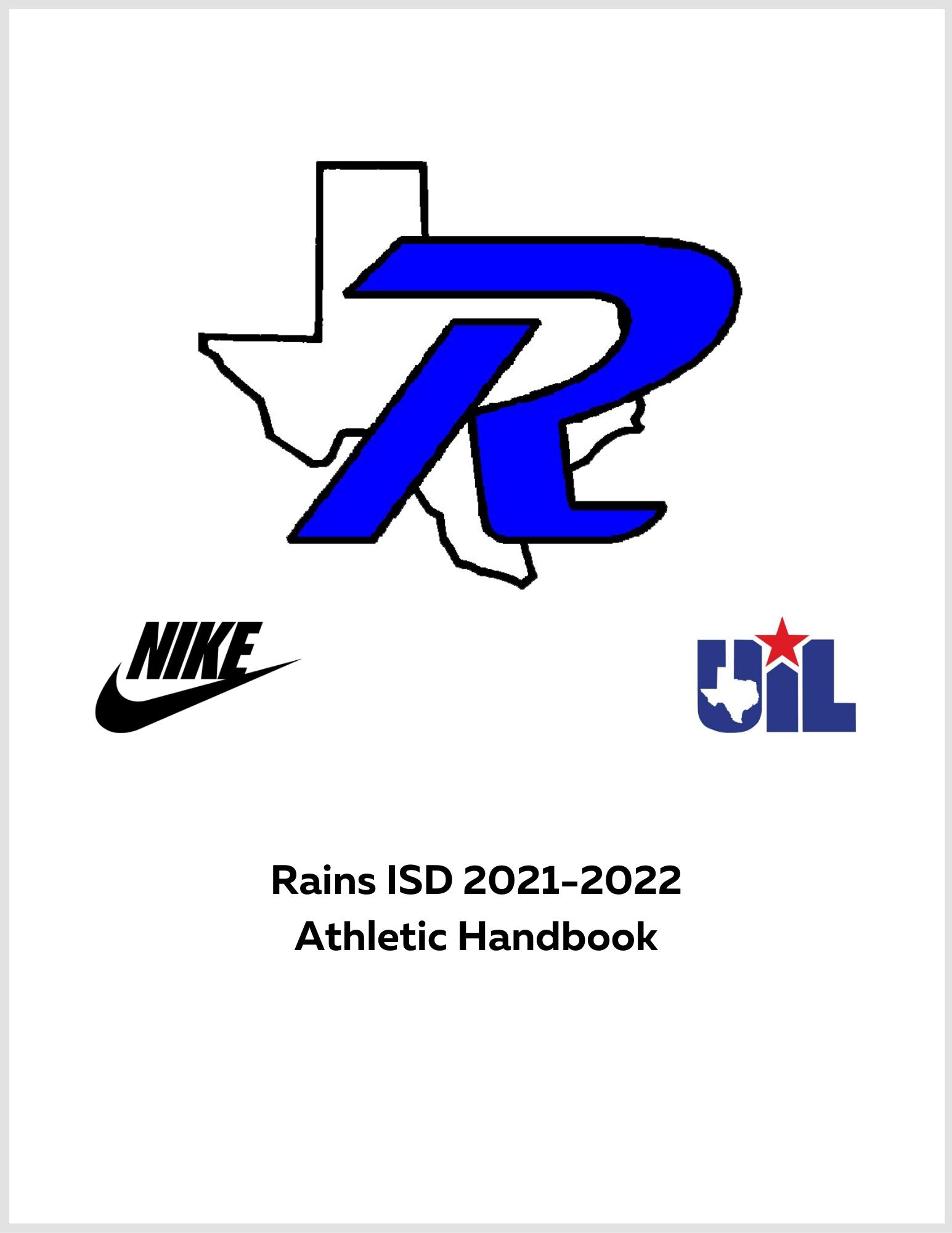 2021-2022 Rains Athletic Handbook Cover