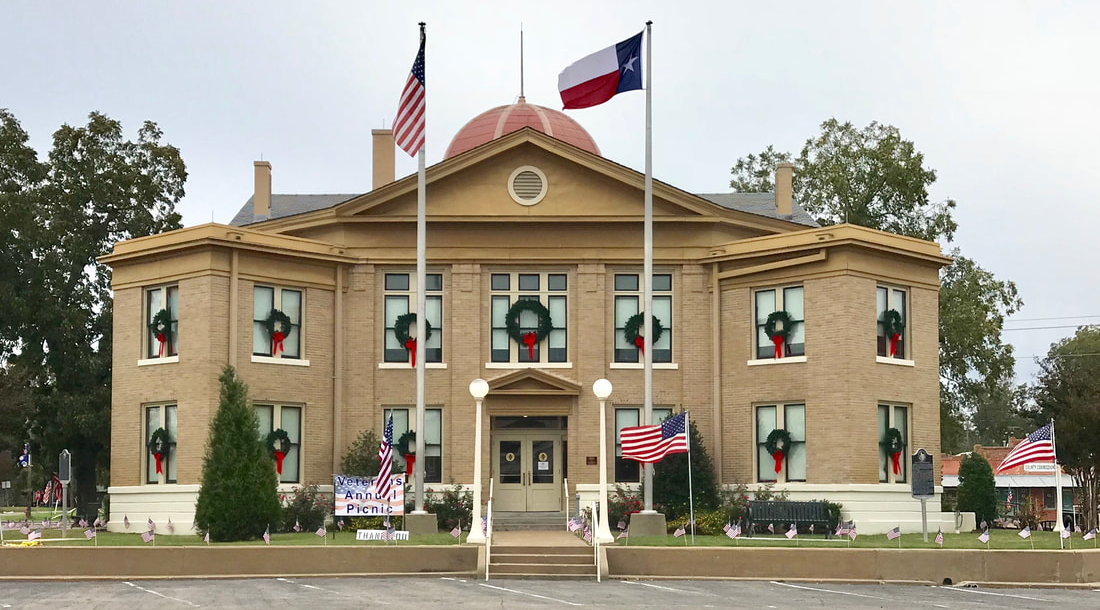 Rains County Courthouse on Veterans' Day