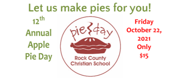 pie day advertisement and pie image