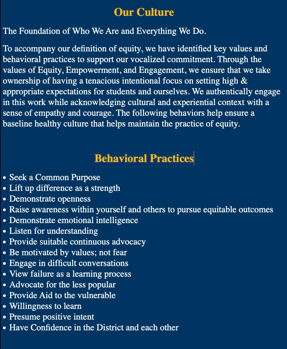 Our Culture & Behavioral Practices