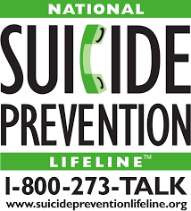 Suicide Prevention Lifeline call 1-800-273-TALK