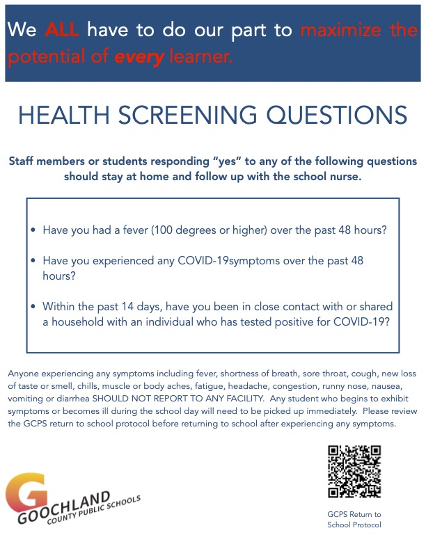 Health Screening Questions