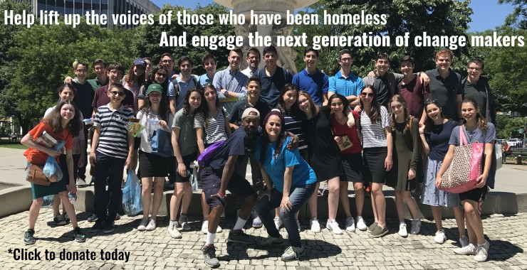 Help lift up the voices of those who have been homeless and engage the next generation of change makers. - Photo of the volunteers.