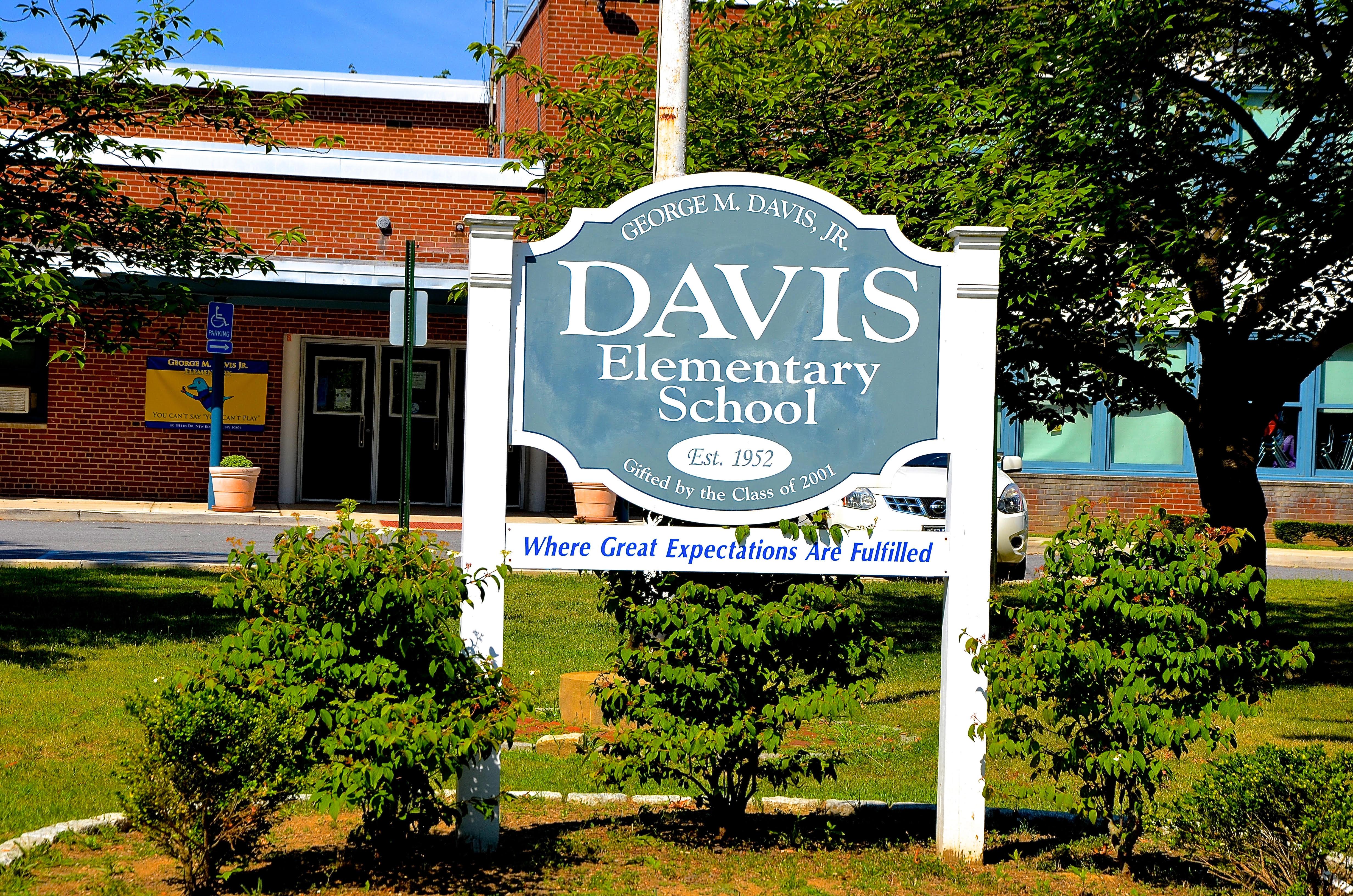 Davis School Sign