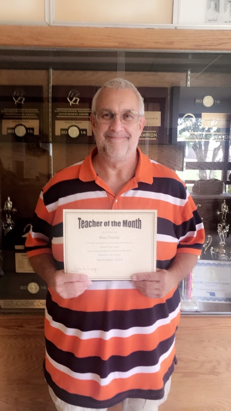 Teacher of the month pic