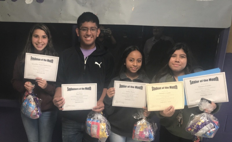 Students of the month pic