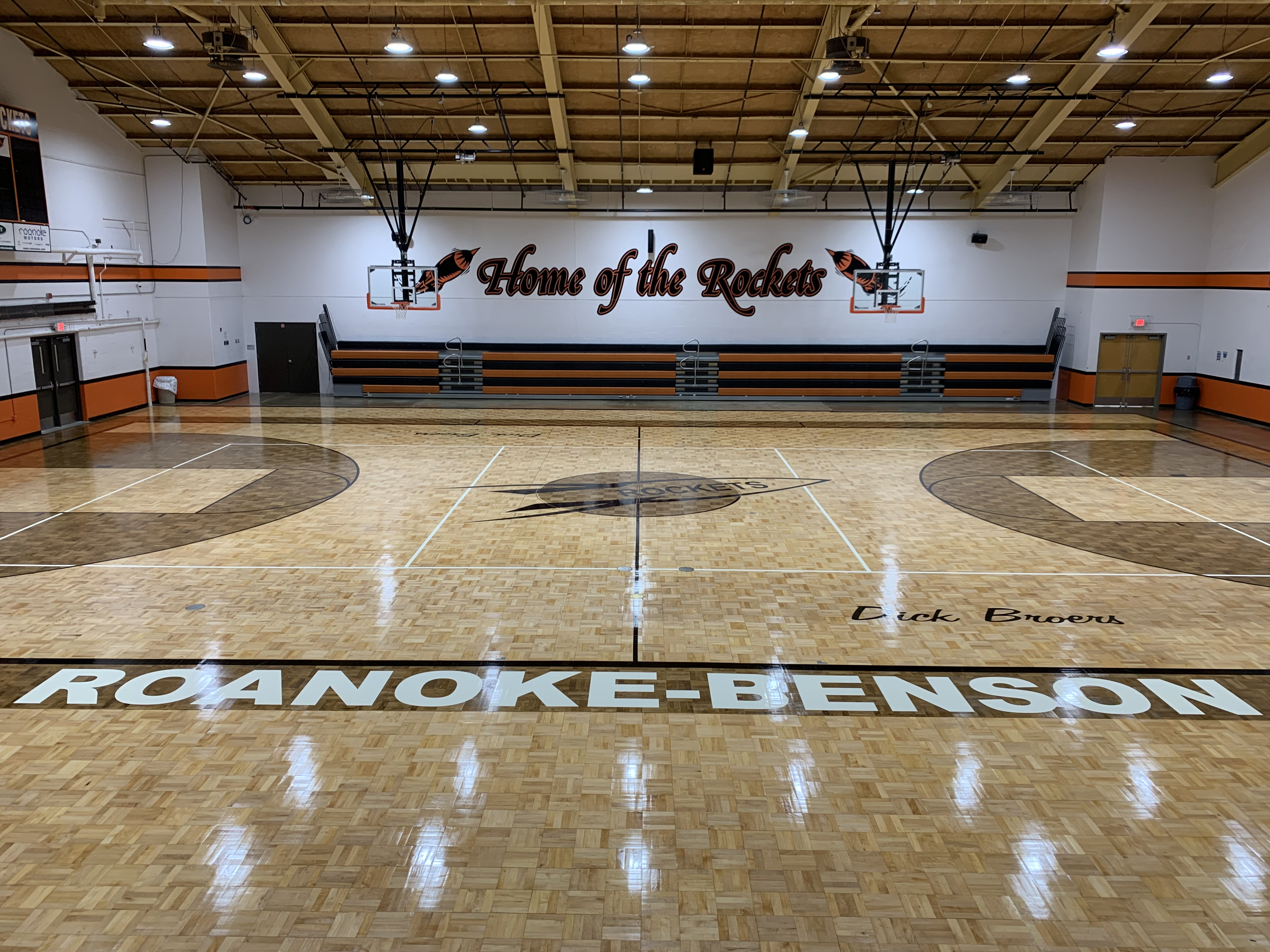 refinished gym floor