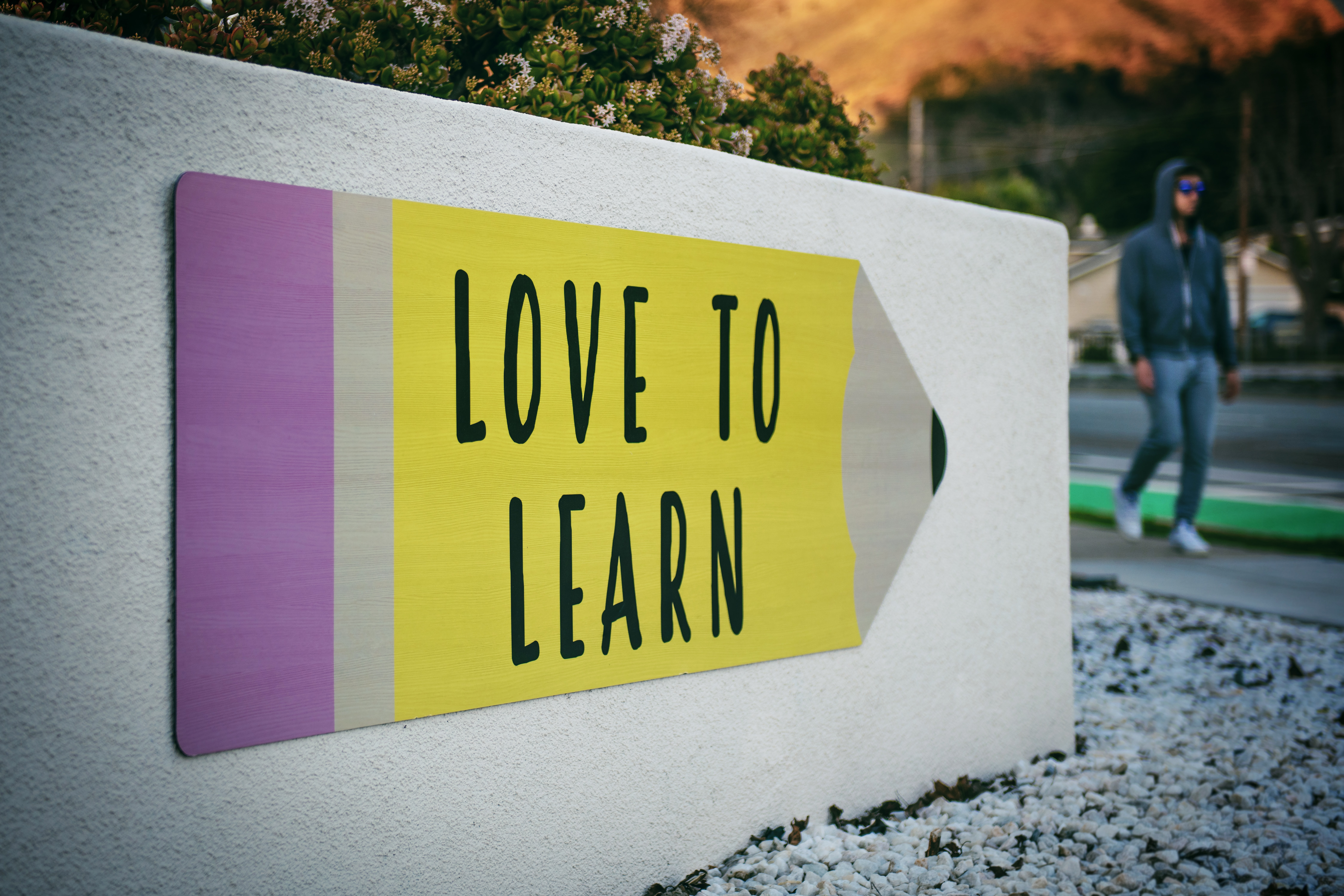 """""""love to learn"""" sign"""