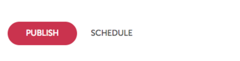 Publish and Schedule Buttons
