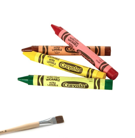 Crayons and Brushes