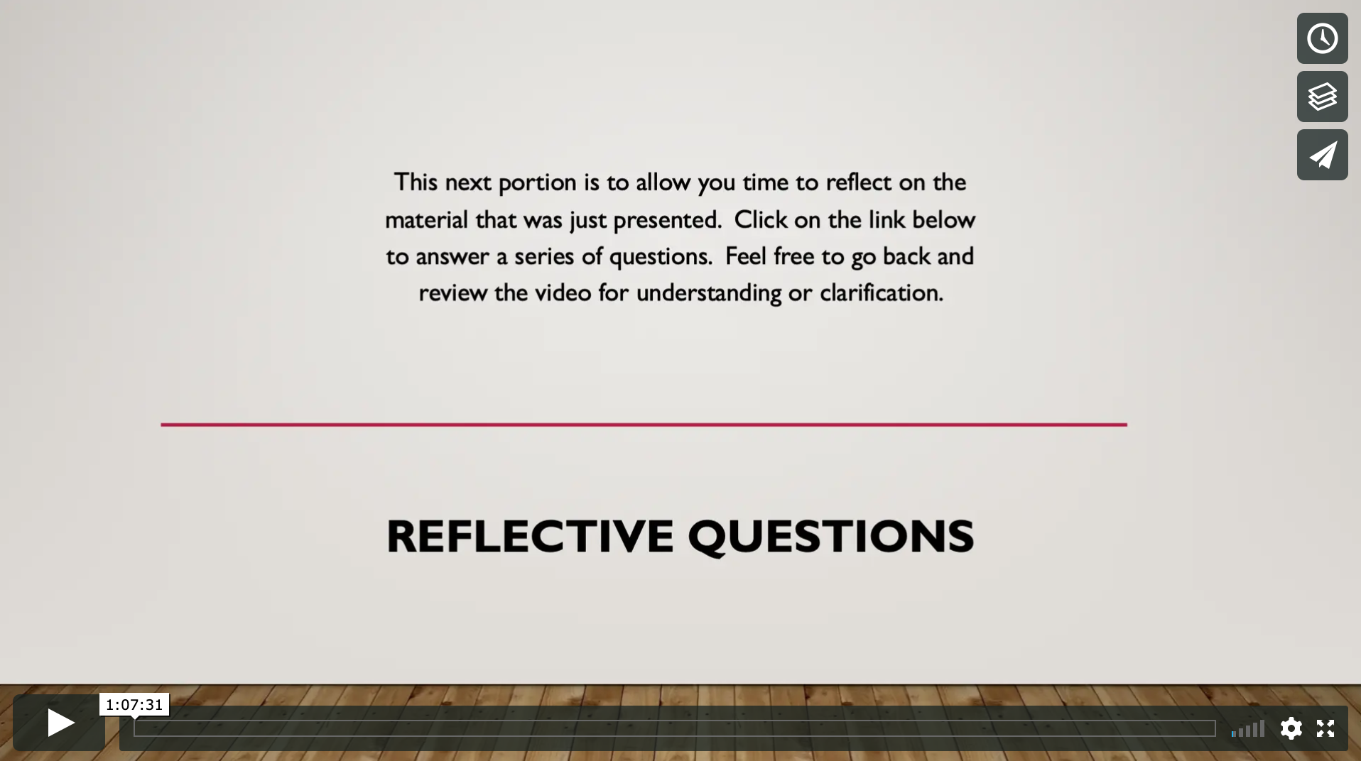 Reflective Questions