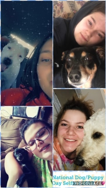 Pictures of national dog day with parents and dogs