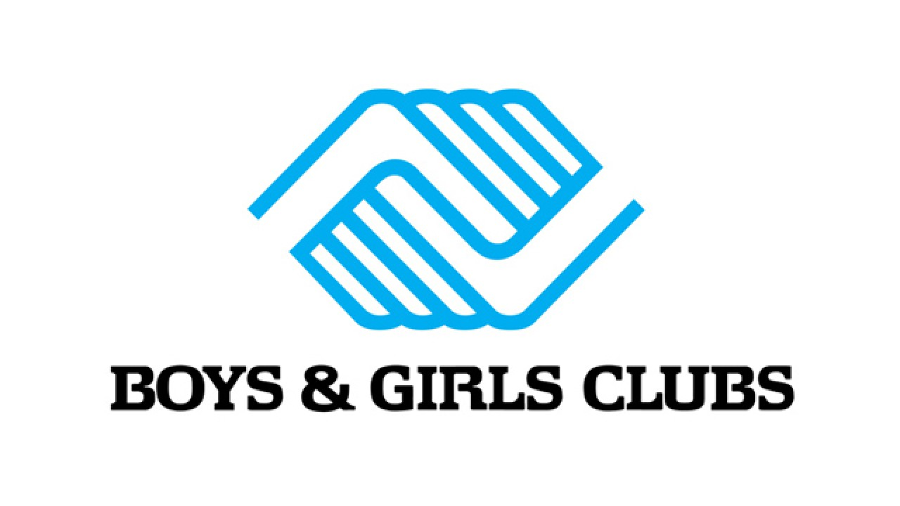 boy and girls club holding hands logo