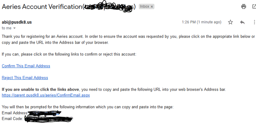 confirm this email address screen shot