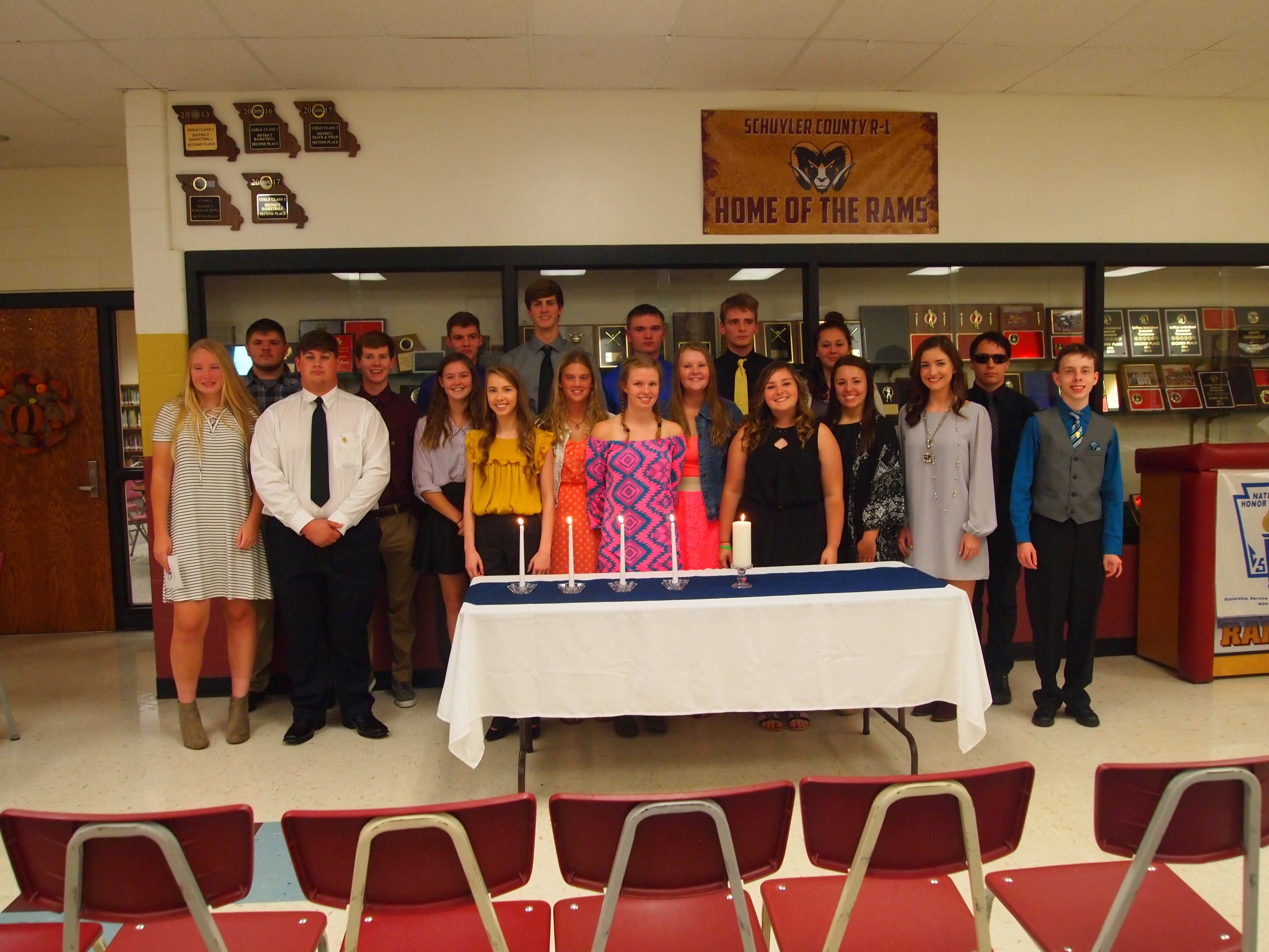 A standing picture of the National Honor Society team