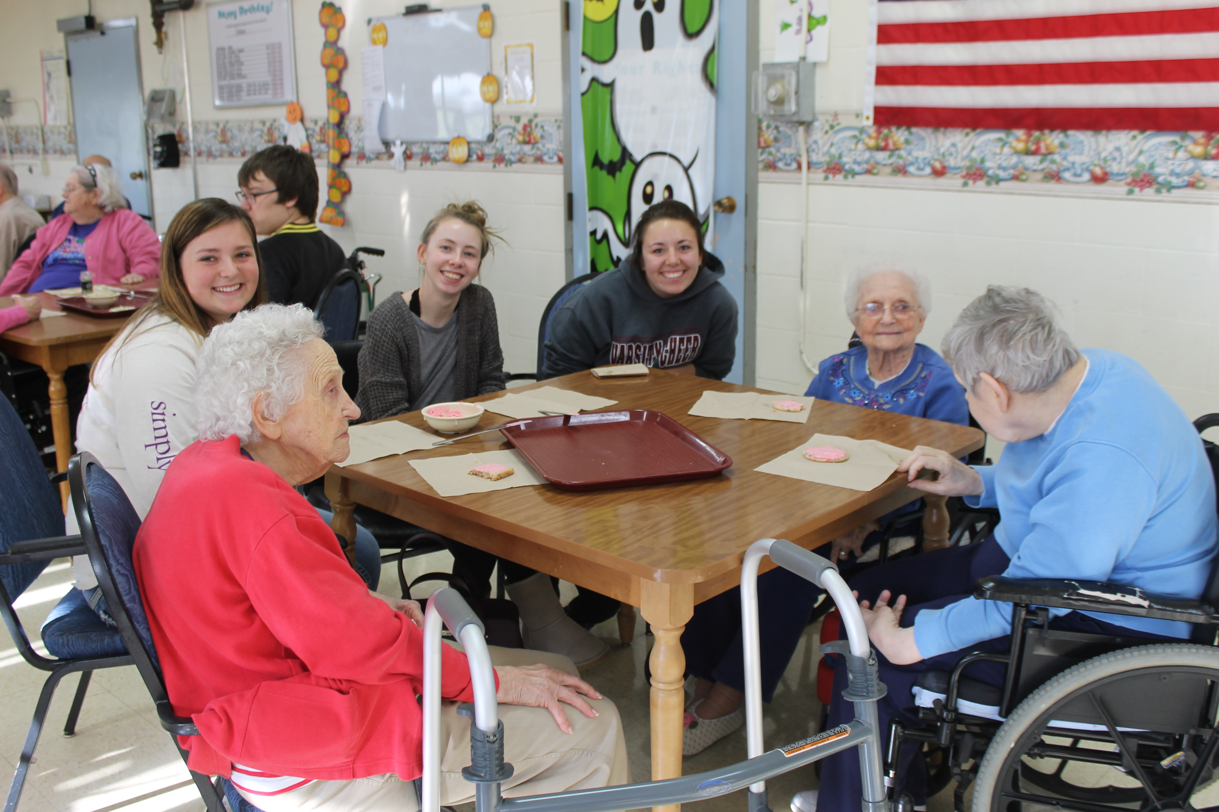 picture of FBLA students with elderly people