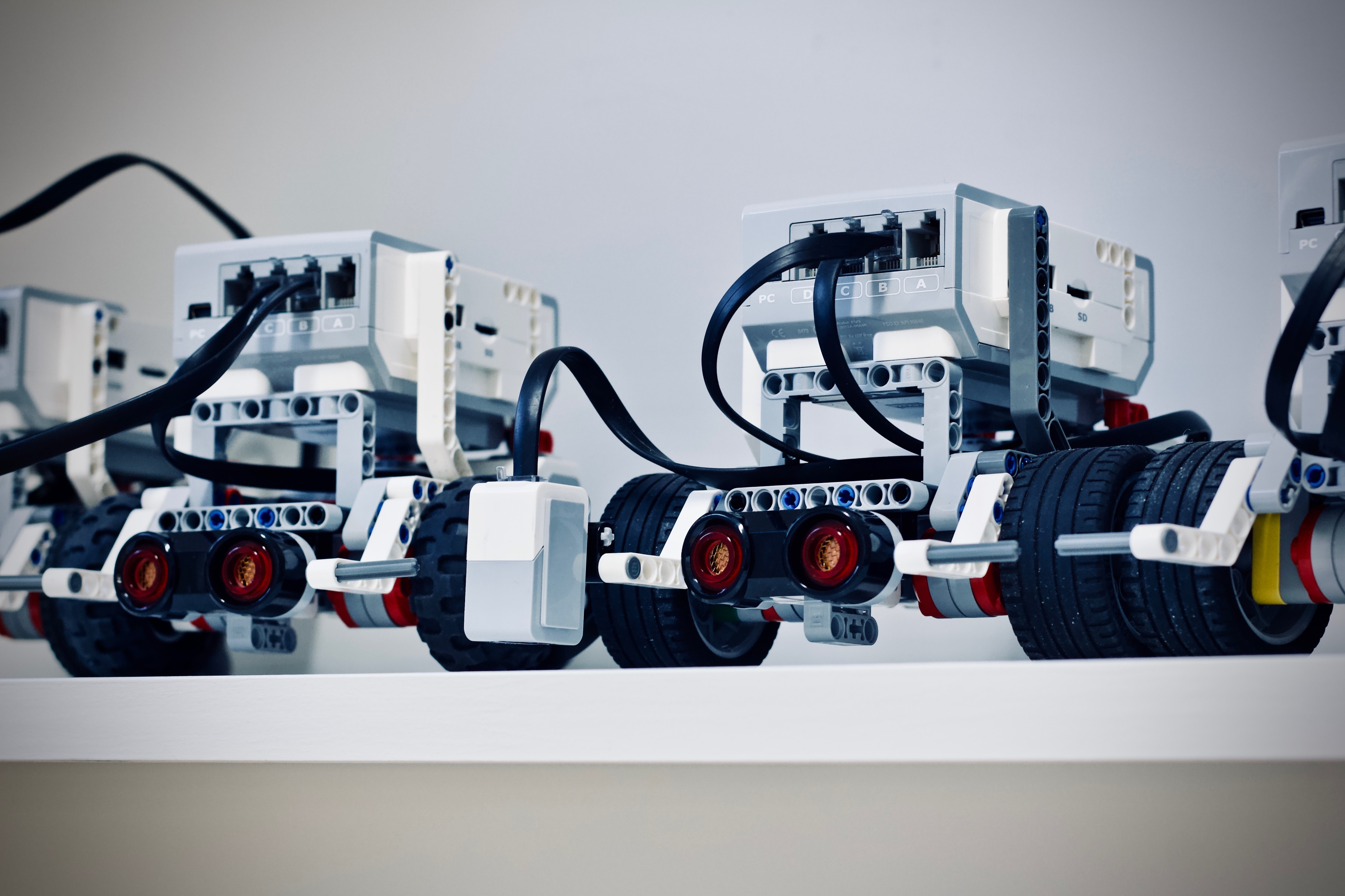 Two small robots