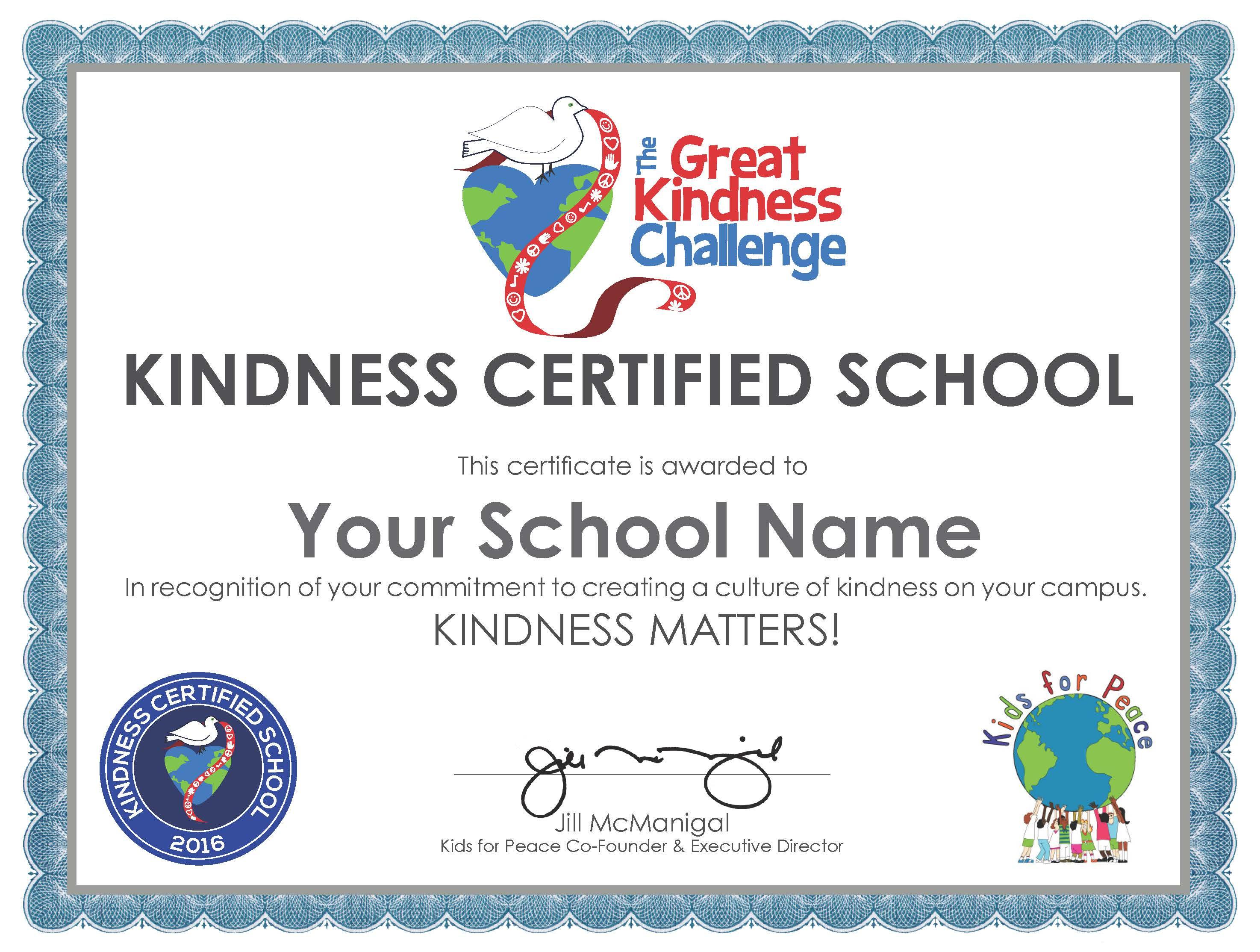 School certify image