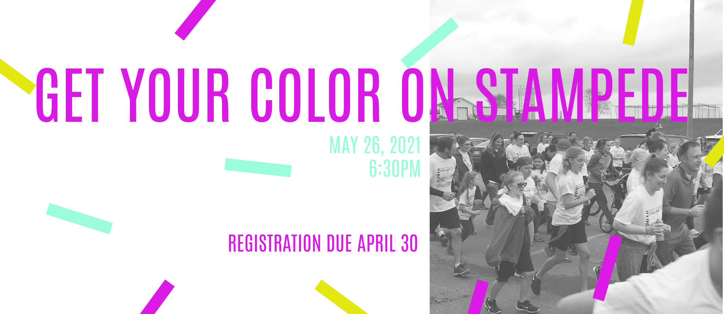 color run shows a group running