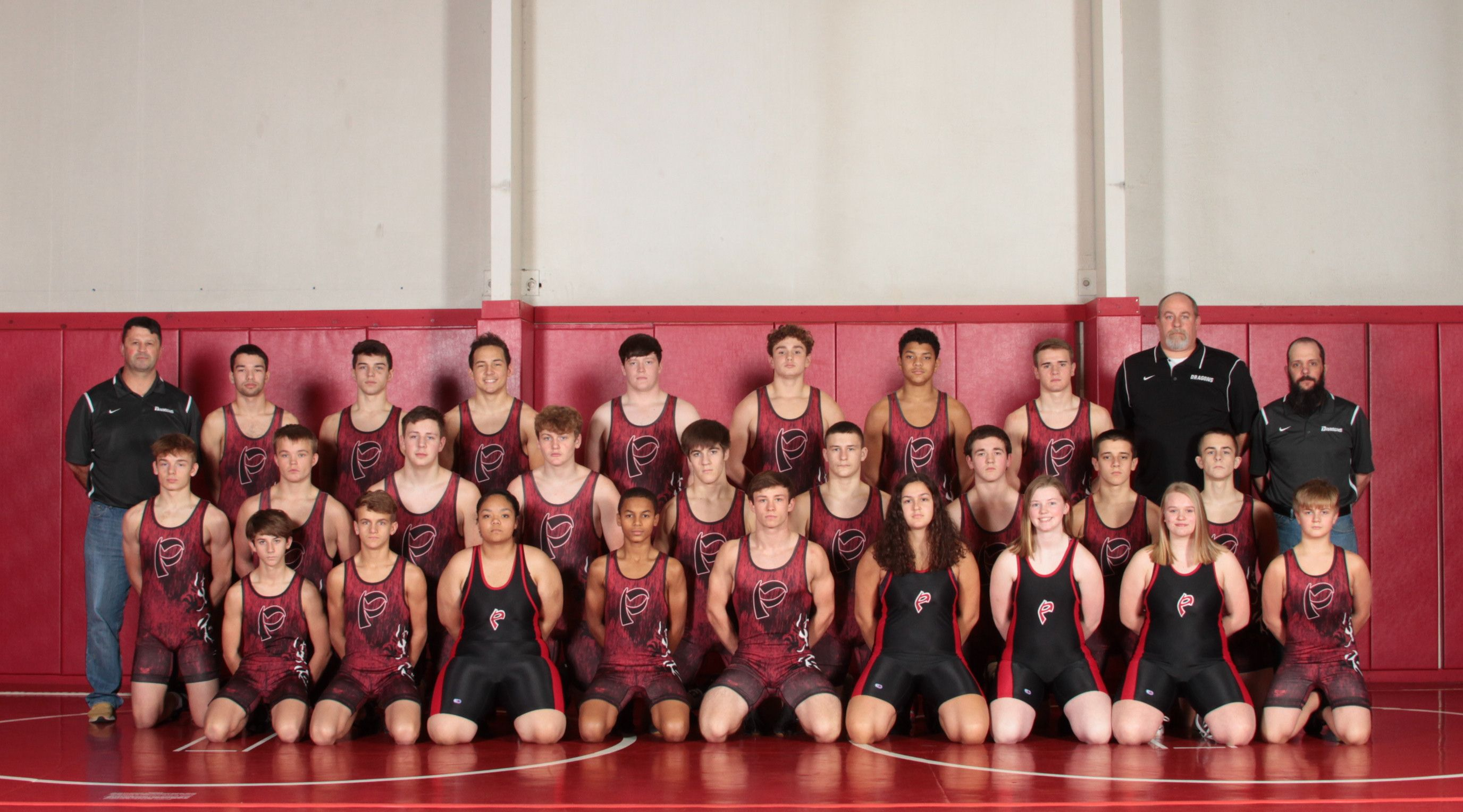 A photo of the wrestling team