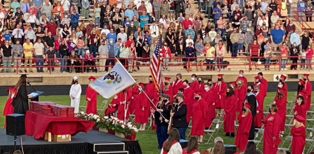 JROTC Color Guard at 2021 Graduation