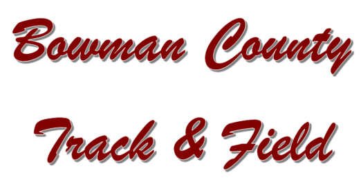 Bowman County Track and Field logo